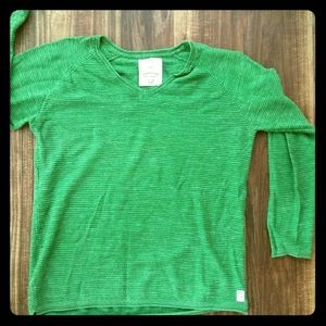 Zara knit top in a vibrant green